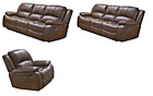 Betsy Furniture 3-pc Bonded Leather Recliner Sofa Set Living Room In Black 8018