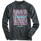 """Just Arrived!!! """"Thankful"""" Kerusso Cherished Girl Adult Grey Long Sleeve T-Shirt"""