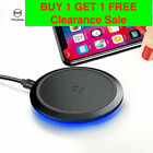 Qi Fast Wireless Charger&Charging Pad for iPhone 11/XS/X/8&Galaxy S9/S8/Note 8*
