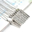 "New Fashion ""BTS"" Titanium Steel Long Sweater chain Vertical Women&Men Necklace"