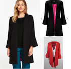New WALLIS  DUSTER COAT EDGE TO EDGE red or black S M L 8-18  rrp £65