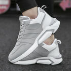 4 Colors Men's Running Sports Leather Shoes Sneakers Outdoor Fashion Athletic