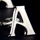 Mix & Match Silver Initial Letters A to Z Alphabet (1 of 3) Cufflinks in Giftbox