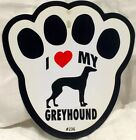 I HEART MY (YOUR DOG HERE) WINDOW SUCTION CUP SIGN FOR CAR OR HOME BRAND NEW A1