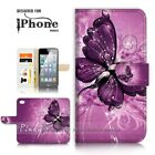 ( For iPhone 8 ) Wallet Case Cover P21098 Butterfly
