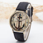 Simple And Fashion Canvas Wrist Watch With Ship Anchor Pattern For Men Womens