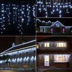 Blue 10-100FT 96-960 LED Fairy String Icicle Curtain Light Outdoor Christmas WQ