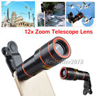 US 12X Zoom Camera Phone Telephoto Telescope Lens + Clip For Mobile Cell Phone W