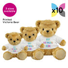 10 Personalised Victoria Teddy Bear Promotional Logo Text Photo Printing Bulk