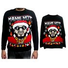 Mens Xmas Mans Not Hot Limited Edition Big Shaq Sweater Jumper Pull Over
