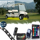 Golf Cart LED Body Glow Neon Wireless Lights 144LED Kit For EZGO CLUB CAR YAMAHA