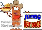 Jumbo Hot Dogs DECAL (Choose Your Size) Food Truck Concession Vinyl Sticker