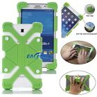 "Green Universal Kids Safe Shockproof Silicone Cover Case For 8"" ~ 9"" Tablets WE"