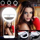 Portable Selfie LED Camera Ring Flash Fill Light For iPhone Android Mobile Phone