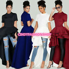 USA Women Lady African Direct New Style Short Sleeve Lotus Swing Party Dress