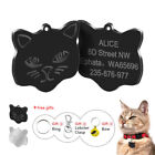 Engraved Pet Cat Tags Personalised ID Name Collar Tags & Bell for Kitten Kitty