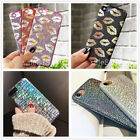 iPhone X 6 6S 7 8 Plus Christmas gift shining Glitter Soft TPU Case Cover Skin