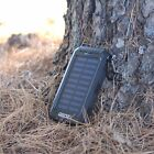 Gift Idea Solar Power Bank + Heavy Duty FAST Charger Cable For Apple iPhone