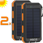 2 Gathering Power Bank Solar Technology PORTABLE Charger Battery For Apple iPhone