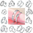 classic ring settings - A Pair Silver Couple Rings Adjustable Promise Rings Band Set For Wedding Lovers