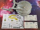 DECALS ONLY - JUMBO ISS ENTERPRISE NX-01 COLUMBIA NX-02!  - Star Trek EAGLEMOSS on eBay