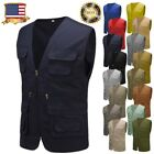 Men's Multi Pocket Travelers Fishing Photography Cool Casual Cotton Vest Cheap
