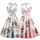 Floral Vintage 50s Retro Rockabilly Pinup Swing Evening Cocktail Party Tea Dress