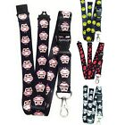 Neck Lanyard with Logo Design Spirius holder for id card keys usb / safe clip uk