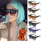 Black Leopard Flat Top Oversized Shadow Shield Women Ladies Sunglasses Shade