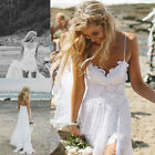 IM- Women's Lace Spaghetti Strap Maxi Long Dress Evening Party Wedding Gown Good