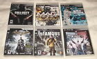 6 PS3 Play Station 3 GAMES Call Duty - Smack Down - Mag - Batman + w/ BOOKLETS