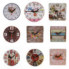 IM- HK- Wooden Large Round/Square Analog Wall Clock Home Office Art Decor Gift S