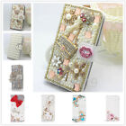 Luxury Card Wallet Bling Rhinestone Crystal PU Leather Stand Phone Case Cover