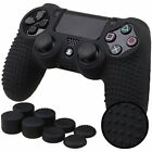 Pandaren STUDDED Anti-slip Silicone Cover Skin Set for PlaySation 4 controlle...