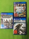 Ps4 Spiele (Grand theft auto 5; Assassin's Creed Syndicate; Watch Dogs)