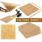 LOT EVA Foam Floor Interlocking Mat Show Tiles Play Gym Dark LIGHT Wood Color VP