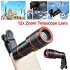 HD 12X Optical Zoom Telescope Camera Lens with Clip Fit for iPhone Samsung LG US