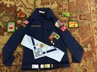 BOY SCOUT LOT uniform Shirt scarf slide belt neckerchief Patches ++ Great Lot