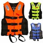 Emergency Adult Life Jacket Universal Swimming Boating Ski Vest + Whistle S XXL