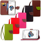 New Leaf Leather Magnetic Case Flip Card Wallet Strap Cover For Various Phone
