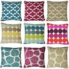 "Claire Patterned Chenille 17"" x 17"" Cushion Covers Or Complete Cushions One Pair"