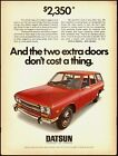 1971 V intage ad  for DATSUN Stationwagon/Red  4-door (031613)