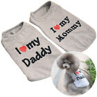 Cute T-shirts Dog Coat Vest Sleeveless Love Puppy Cat Pet Clothing Mommy