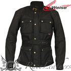WEISE CLIFTON RETRO STYLED WATERPROOF MOTORCYCLE JACKET WITH BACK PROTECTOR