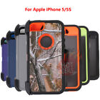 For Apple iPhone 5S/SE 2016 Defender Case Cover (Clip Fits OtterBox)