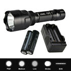 CREE 1000LM T6 LED Ultrafire Flashlight 360° Bike Mount Clip&18650 Lamp Torch