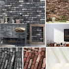 9.5m Rustic 3d Slate Brick Stone Effect Vintage Vinyl Home Wallpaper Roll Decal