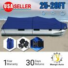 25%2D28+FT+25%27+26%27+27%27+28%27+600D+Waterproof+Trailerable+Pontoon+Boat+Cover+Blue+MO