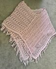 Shawl Wrap Puncho  Pink W/Patterns Women's Accessiories