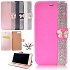 For iPhone 7 8 Plus X Luxury Bling Diamond Flip Leather Stand Wallet Case Cover